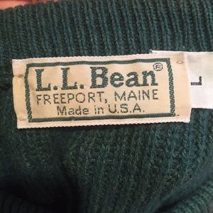 LL Bean Thick Knit Sweater - Large